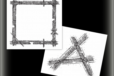 Cross Hatch Cling Rubber Stamp Set