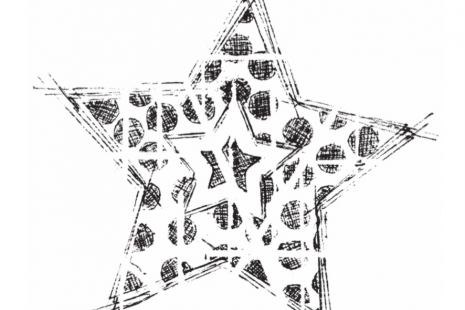 Starburst Cling Rubber Stamp
