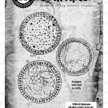 Spinners Cling Rubber Stamp Set