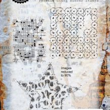 Faded Fragments Cling Rubber Stamp Set