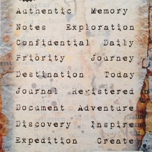Journal Jargon Three Cling Rubber Stamp Set
