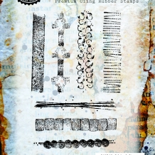 Sticks & Stones Cling Rubber Stamp Set