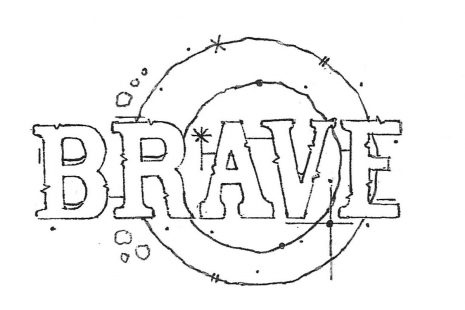 Brave Rubber Stamp
