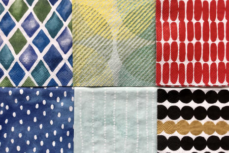 Napkin Collage Pack: Mark Makers 1