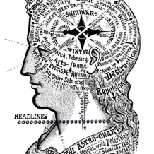 Headlines Cling Rubber Stamp