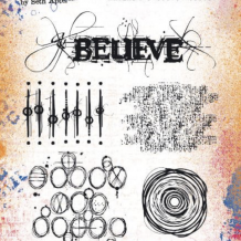 Eclectica³ 18 Cling Rubber Stamp Set
