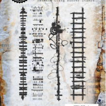 Tracks Cling Rubber Stamp Set